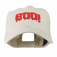 Halloween Boo Sign Embroidered Cap - Stone