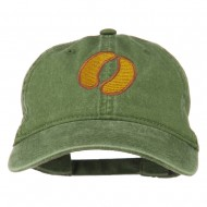 Bison Hoof Mascot Embroidered Washed Dyed Cap - Olive Green