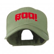 Halloween Boo Sign Embroidered Cap - Olive