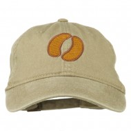 Bison Hoof Mascot Embroidered Washed Dyed Cap - Khaki