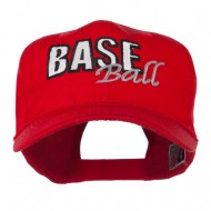 Baseball Outline Embroidered Cap - Red