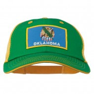 Big Mesh State Oklahoma Patch Cap - Kelly Gold