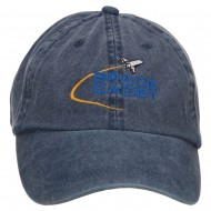 Space Cadet Embroidered Washed Cap - Navy