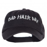Bad Hair Day Embroidered Low Profile Cap - Black
