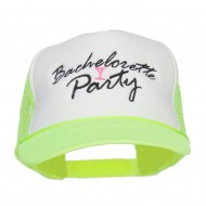 Bachelorette Party Embroidered Neon Trucker Cap - Neon Yellow
