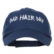 Bad Hair Day Embroidered Low Profile Cap - Navy
