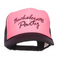 Bachelorette Party Embroidered Neon Trucker Cap - Black Pink