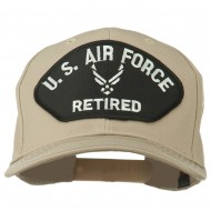 US Air Force Retired Symbol Patched Cap - Khaki