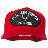 US Air Force Retired Symbol Patched Cap - Red