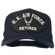 US Air Force Retired Symbol Patched Cap - Navy