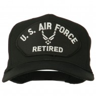 US Air Force Retired Symbol Patched Cap - Black