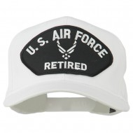 US Air Force Retired Symbol Patched Cap - White