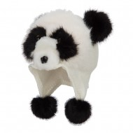 Kid's Faux Fur Knit Animal Hat - Panda