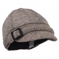Muffy Square Buckle Cabbie Cap - Pink