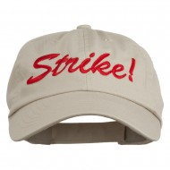 Bowling Strike Embroidered Low Profile Washed Cap - Khaki