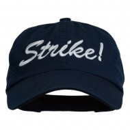 Bowling Strike Embroidered Low Profile Washed Cap - Navy