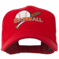 Big Logo Baseball Embroidered Cap - Red