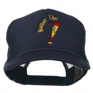 Youth Batter Up Embroidered Mesh Cap - Navy