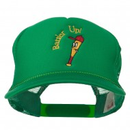 Youth Batter Up Embroidered Mesh Cap - Kelly