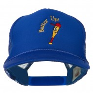 Youth Batter Up Embroidered Mesh Cap - Royal