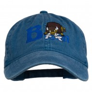Bison Mascots Embroidered Washed Cap - Navy