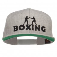 Boxing Embroidered Snapback Cap - Heather
