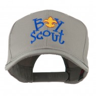 Boy Scout Logo Embroidered Cap - Grey