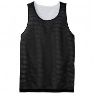 Men's Big Size Sport-Tek PosiCharge Classic Mesh Reversible Tank T-Shirt - Black