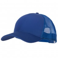 Big Size Solid Cotton Twill High Profile Mesh Pro Style Cap - Royal