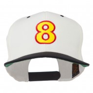 Arial Number 8 Embroidered Classic Two Tone Cap - Natural Black