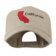 California Image with Wording Embroidered Cap - Khaki