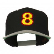 Arial Number 8 Embroidered Classic Two Tone Cap - Black Silver