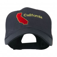California Image with Wording Embroidered Cap - Navy