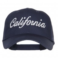 California State Embroidered Cotton Twill Cap - Navy