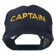 Youth Captain Embroidered Foam Mesh Back Cap - Navy