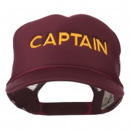 Youth Captain Embroidered Foam Mesh Back Cap - Maroon