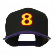 Arial Number 8 Embroidered Classic Two Tone Cap - Black Purple