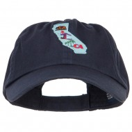 USA State California Patched Low Profile Cap - Navy