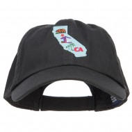 USA State California Patched Low Profile Cap - Black