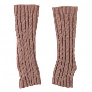 Women's Cable Knitted Arm Warmer - Rose