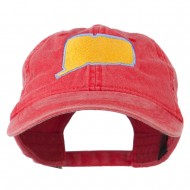 Connecticut State Map Embroidered Washed Cap - Red