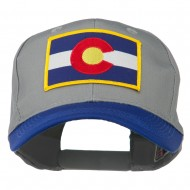 Colorado State Embroidered Patched Cap - Royal Grey