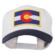 Colorado State Embroidered Patched Cap - Navy White