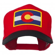 Colorado State Embroidered Patched Cap - Black Red