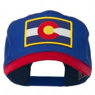 Colorado State Embroidered Patched Cap - Red Royal
