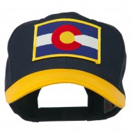 Colorado State Embroidered Patched Cap - Gold Navy