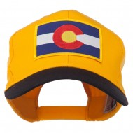 Colorado State Embroidered Patched Cap - Black Gold