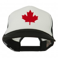 Canada's Maple Leaf Embroidered Foam Front Mesh Back Cap - Black White
