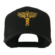Original Medical Caduceus Outline Embroidered Cap - Black