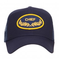 Chief Oak Leaf Patched Mesh Cap - Navy